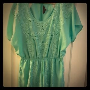 Anthropologie mint romper